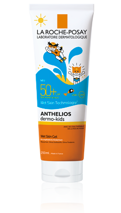 Anthelios: Dermo-Kids Wetskin Gel LSF50+ packshot from ANTHELIOS SONNENSCHUTZ, by La Roche-Posay